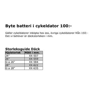 Batteribyte Cykeldator